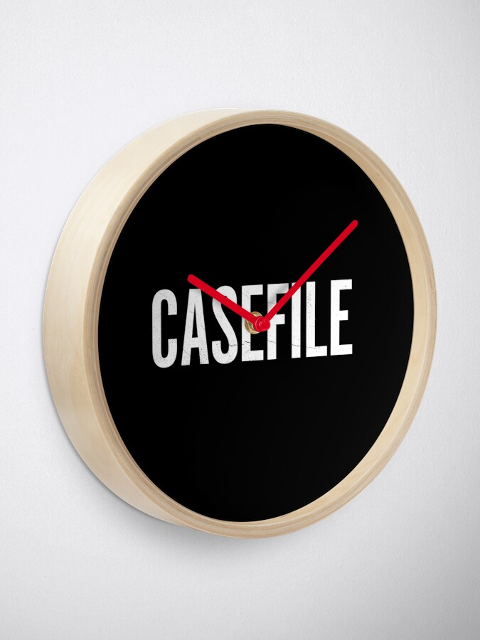 Alternate view of Casefile True Crime Podcast Logo (Light) Clock