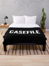 Casefile True Crime Podcast Logo (Light) Throw Blanket