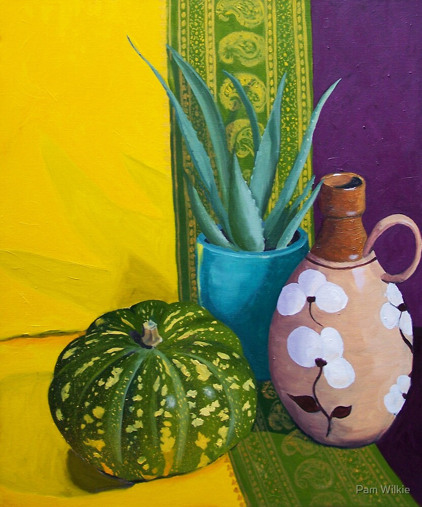 Still Life with pumpkin by Pam Wilkie