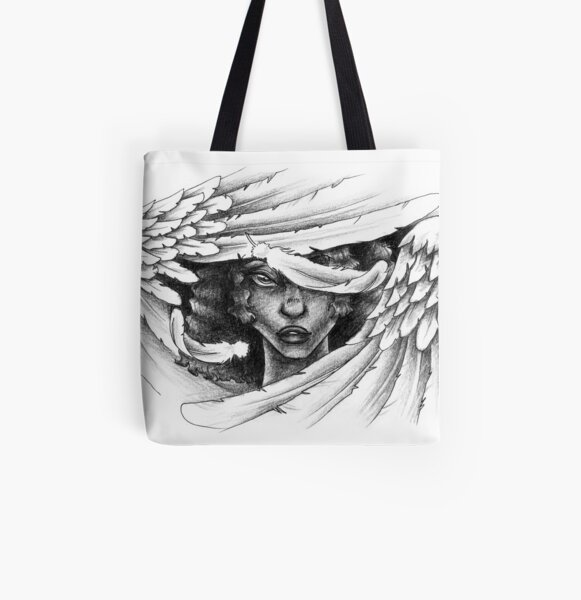 Angel Wings All Over Print Tote Bag