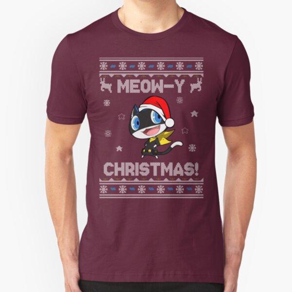 Morgana Meow-y Christmas! Slim Fit T-Shirt