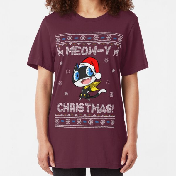Morgana Meow-y Christmas! Slim Fit T-Shirt