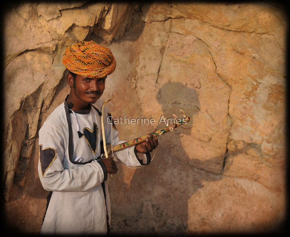 Young busker, India by Catherine Ames