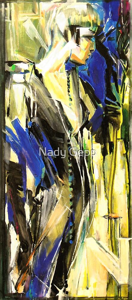 Blue Evening by Nady Gepp