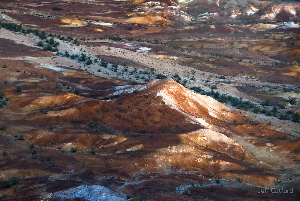 Hill and Dry Rivers II - Outback Abstract by Jeff Catford