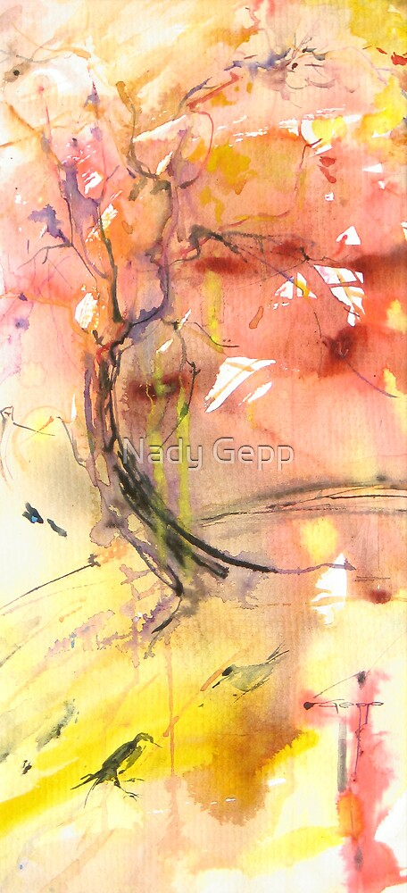 Red Tree by Nady Gepp