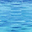 Aqua Blue Daydream Watercolor Pattern by blueskywhimsy