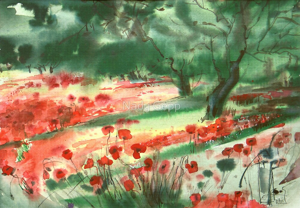 Red Poppies by Nady Gepp