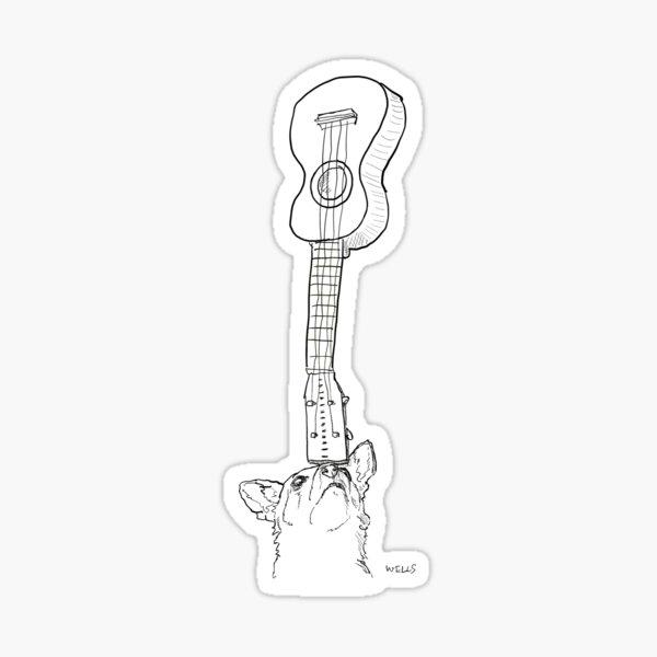 ukulele dog Sticker