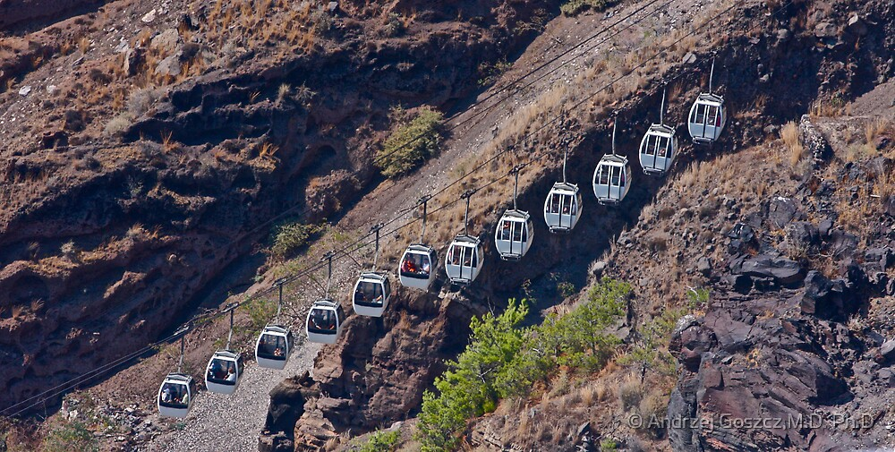 A cableway on Santorini . Greece. by Brown Sugar. Tribute to Michalis Tzouganakis - KPHTH OPLA !!!!! Yeah !! Views (123) by © Andrzej Goszcz,M.D. Ph.D