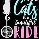 Cute Classic Cat Life Riding Bicycle von mjacobp