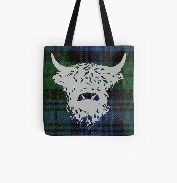 tartan shoulder bag made in Scotland tartan handbag Tote Large Black WatchTartan