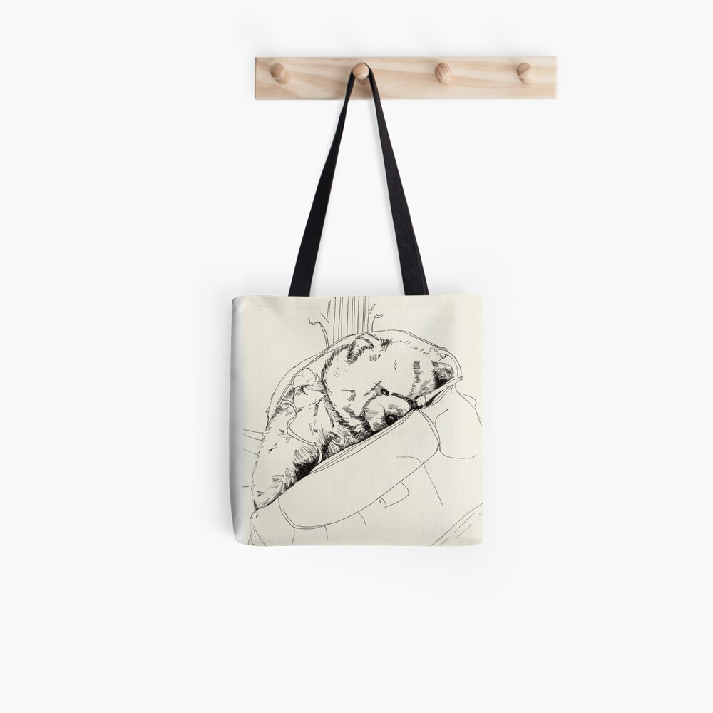 Bear on a chair Tote Bag