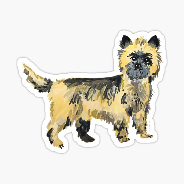 Cairn Terrier Illustration Sticker