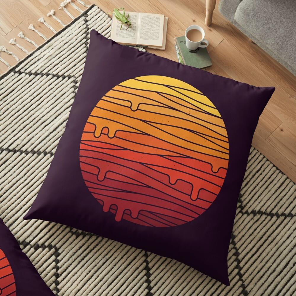 Heat Wave Floor Pillow
