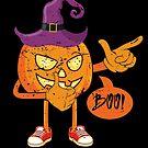 Cute Walking Pumpkin Scary Boo Halloween Gift von mjacobp