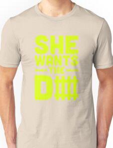 She Wants The D Fence Football Unisex T-Shirt