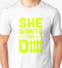 She Wants The D Fence Football T-Shirt