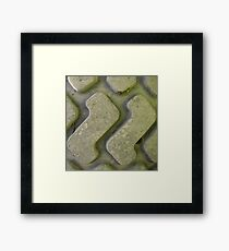 two letter ZED Framed Print