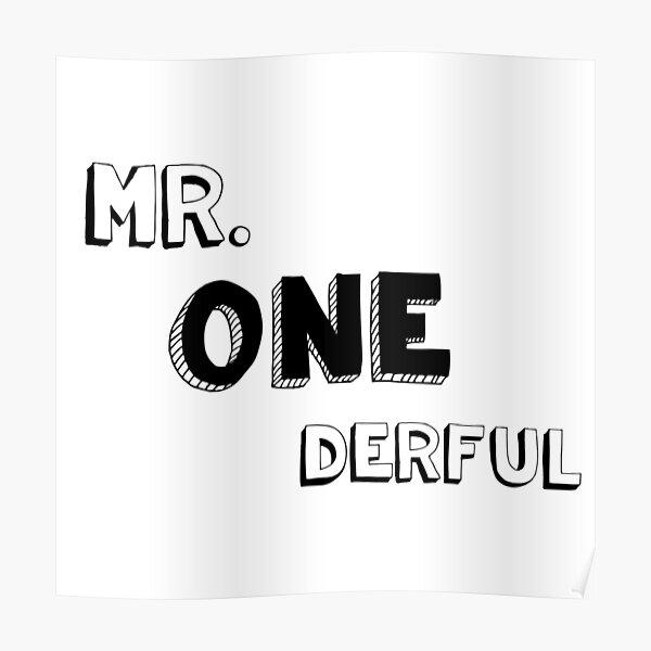 Mr. One derful Poster