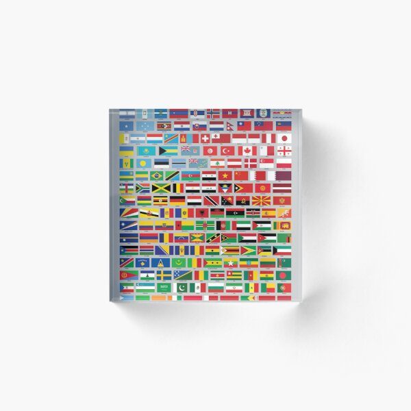 Flags of the World by Color Acrylic Block