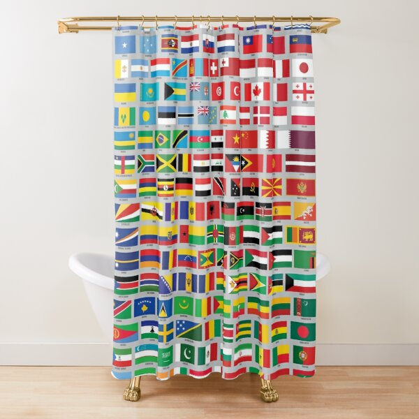 Flags of the World by Color Shower Curtain