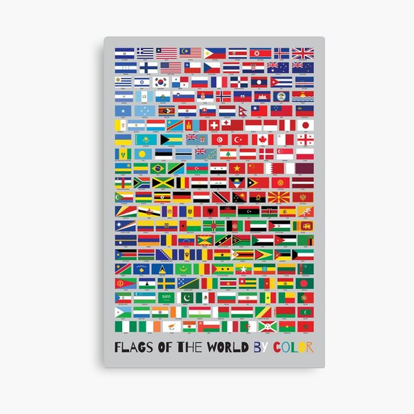 Flags of the World by Color Canvas Print