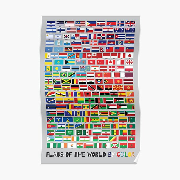 Flags of the World by Color Poster