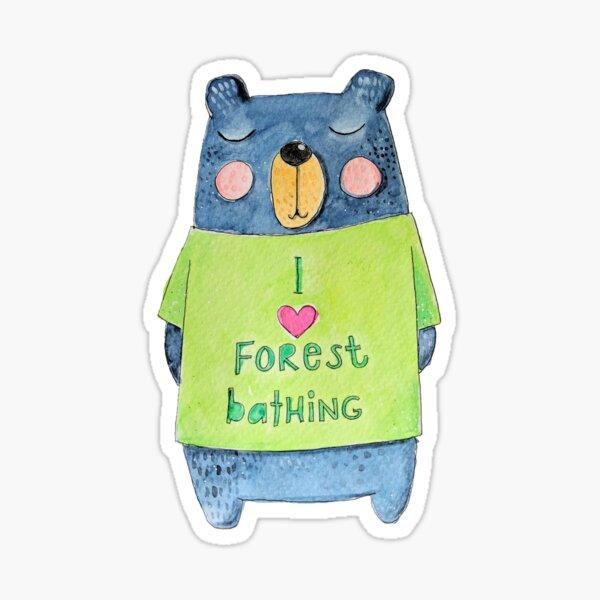 Forest Bathing Bear Sticker