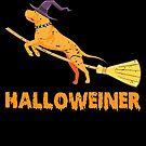 Funny Halloweiner Witch Dog Halloween Gift von mjacobp