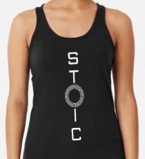 Stoics Stay Vertical - Greek Circle - Stay Stoic Racerback Tank Top