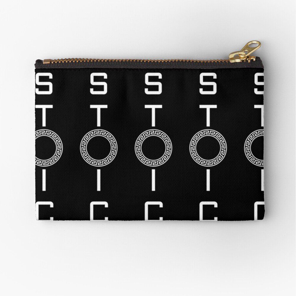 Stoics Stay Vertical - Greek Circle - Stay Stoic Zipper Pouch