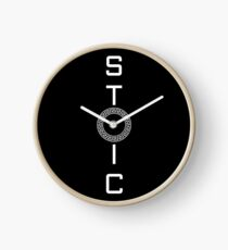 Stoics Stay Vertical - Greek Circle - Stay Stoic Clock