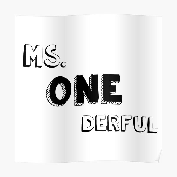 Ms. One derful Poster