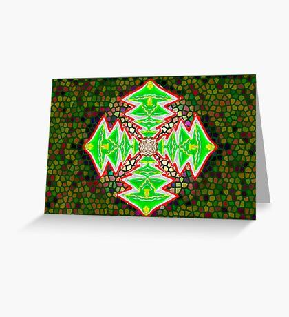 Digital Tree Star 3 Greeting Card