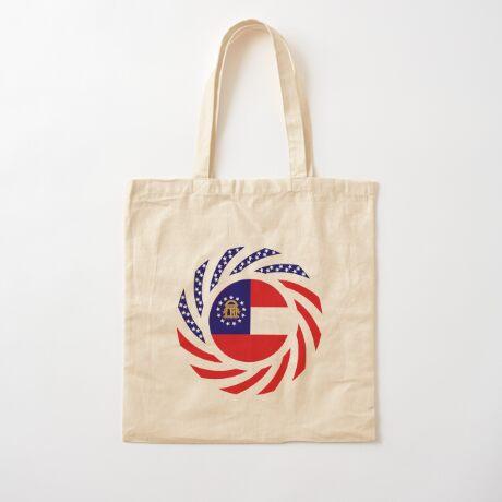 Georgian Murican Patriot Flag Series Cotton Tote Bag