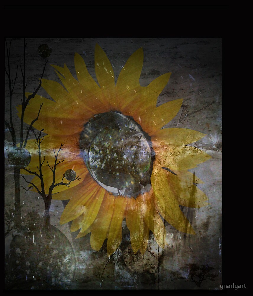 Sunflower Grunge by gnarlyart