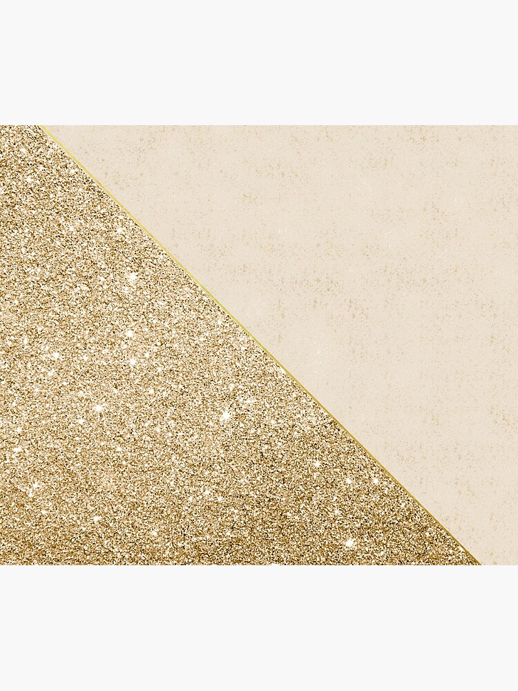 Modern faux shiny gold pattern by Quaintrelle