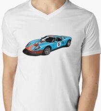 Ford GT Gulf Livery V-Neck T-Shirt