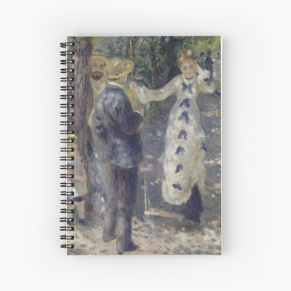The Swing Oil Painting by Auguste Renoir Spiral Notebook