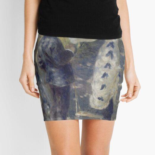 The Swing Oil Painting by Auguste Renoir Mini Skirt