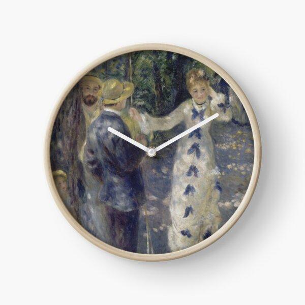 The Swing Oil Painting by Auguste Renoir Clock