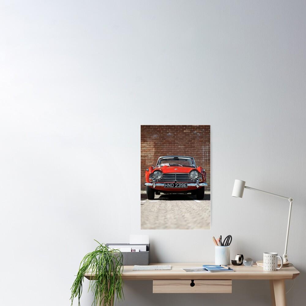 Triumph TR4A convertible Poster