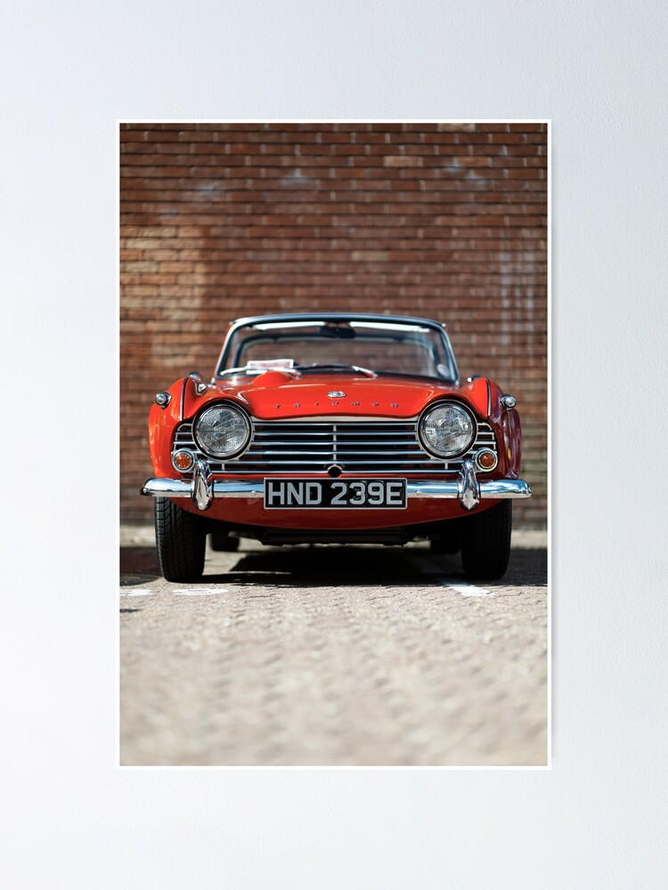 Alternate view of Triumph TR4A convertible Poster