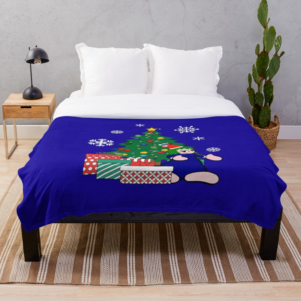 """""""Lemmings Around The Christmas Tree"""" Throw Blanket by ..."""