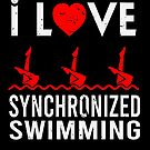 I love Synchronized Swimming Cute Swimmer Sport von mjacobp