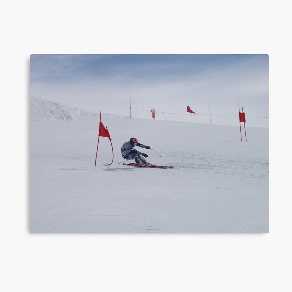 US Ski Team Member Practicing in September Leinwanddruck