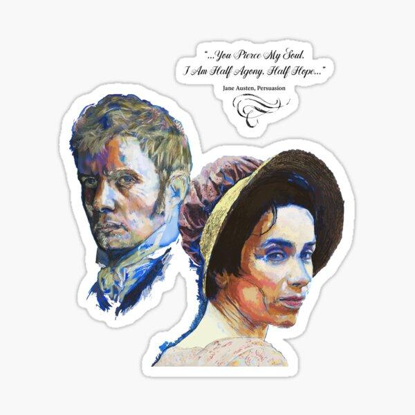 Persuasion - Anne Elliot and Captain Wentworth. Sticker