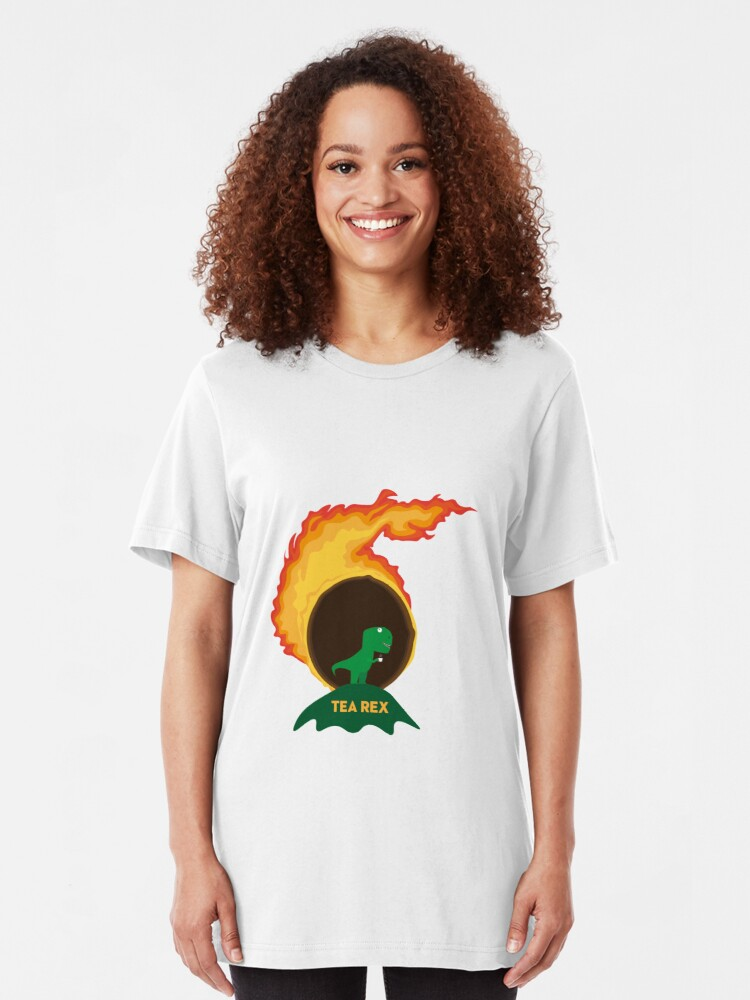 Alternate view of Tea Rex and the Meteor Slim Fit T-Shirt