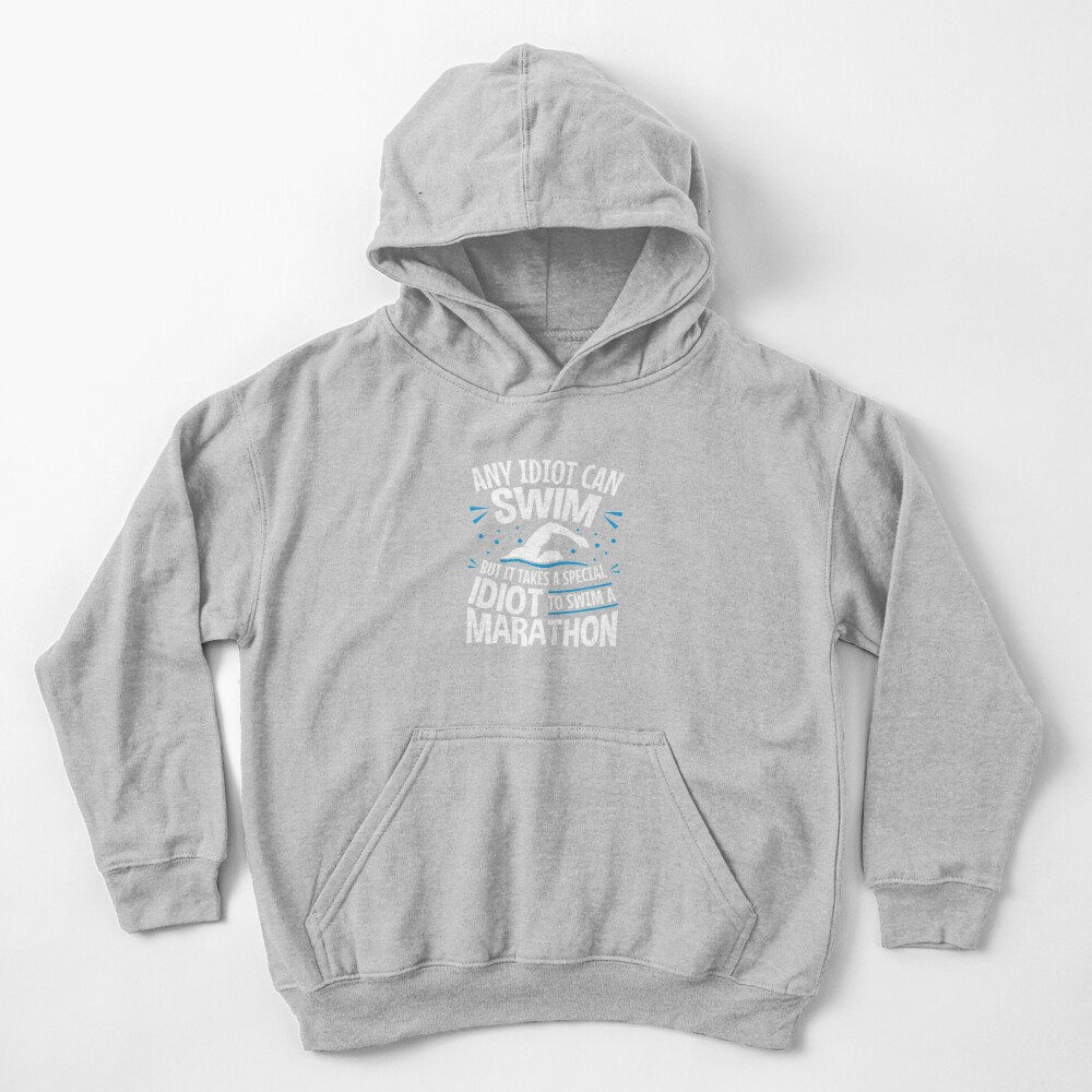 Long Distance Swimmer Open Water Swimming Kids Pullover Hoodie